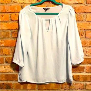 Express blue 3/4 sleeve blouse size L